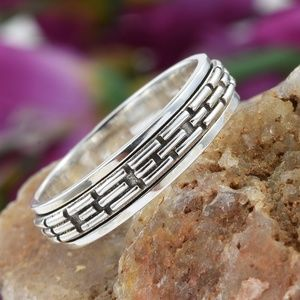 Artisan Crafted Sterling /S Striped Spinner Ring